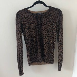 *NWOT The Limited Leopard Print Cardigan